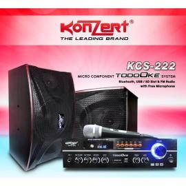 KONZERT KCS-222 MICRO COMPONENT SYSTEM