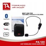 TITANIUM AUDIO TA-120 WAIST SPEAKER WITH WIRELESS HEADWORN MIC