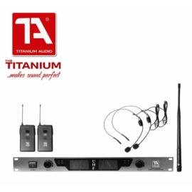 TITANIUM AUDIO Dual Headworn Microphone TA-70U Army